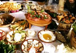 Compositions de plats d'un mezzé
